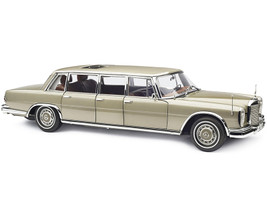 1963 1981 Mercedes Benz 600 Pullman W100 Limousine Sunroof Champagne Gold 1/18 Diecast Model Car CMC 204