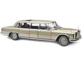 1963-1981 Mercedes Benz 600 Pullman W100 Limousine Sunroof Champagne Gold 1/18 Diecast Model Car CMC 204