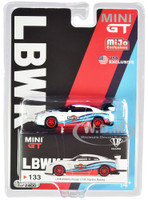 Nissan GT-R R35 Type 1 LB Works Rear Wing Martini Racing Limited Edition 2400 pieces Worldwide 1/64 Diecast Model Car True Scale Miniatures MGT00133