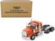 Western Star 4900 SB Tandem Sleeper Cab Truck Tractor Orange Black Stripes Transport Series 1/50 Diecast Model Diecast Masters 71063