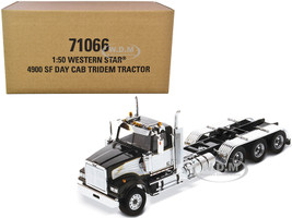 Western Star 4900 SF Tridem Day Cab Truck Tractor Black Transport Series 1/50 Diecast Model Diecast Masters 71066