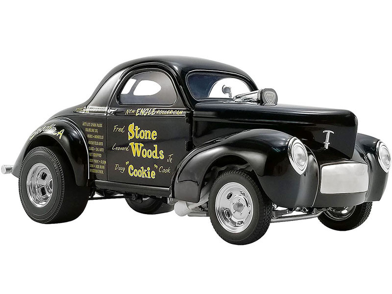 1941 Willys Gasser Stone Woods Cookie Black Limited Edition 546 pieces Worldwide 1/18 Diecast Model Car ACME A1800915