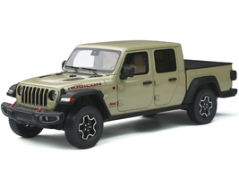 Jeep Gladiator Rubicon Pickup Truck Bed Cover Light Green 1/18 Model Car GT Spirit GT279