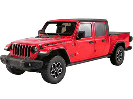 Jeep Gladiator Rubicon Pickup Truck Bed Cover Firecracker Red Black Top 1/18 Model Car GT Spirit ACME US024