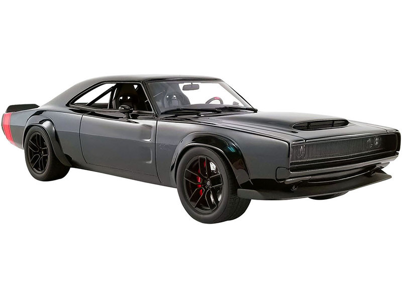 1968 Dodge Super Charger SEMA Concept Black Red Tail Stripes USA Exclusive Series 1/18 Model Car GT Spirit ACME US029