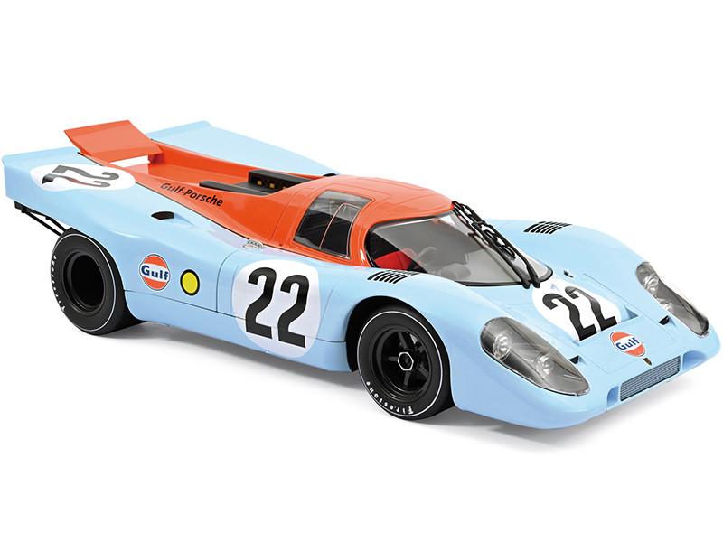 Porsche 917 #22 David Hobbs Richard Attwood Gulf Oil 24H France 1970 1/12 Diecast Model Car Norev 127505