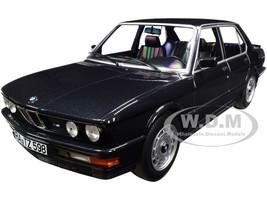 1986 BMW M535i Black Metallic 1/18 Diecast Model Car Norev 183263