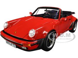1987 Porsche 911 Turbo Cabriolet Red 1/18 Diecast Model Car Norev 187664