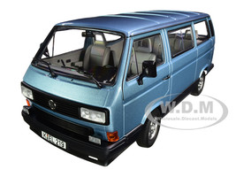 1990 Volkswagen Multivan Bus Light Blue Metallic 1/18 Diecast Model Car Norev 188544