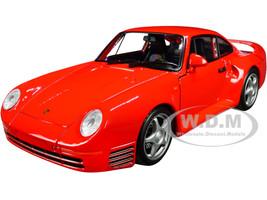 Porsche 959 Red Silver Wheels NEX Models 1/24 Diecast Model Car Welly 24076