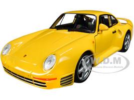 Porsche 959 Yellow Silver Wheels NEX Models 1/24 Diecast Model Car Welly 24076