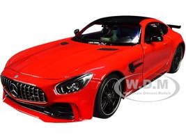 Mercedes AMG GT R Red Carbon Top NEX Models 1/24 Diecast Model Car Welly 24081
