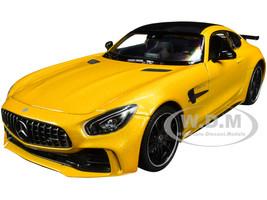 Mercedes AMG GT R Yellow Metallic Carbon Top NEX Models 1/24 Diecast Model Car Welly 24081