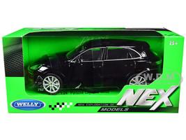 Porsche Cayenne Turbo Black Silver Wheels NEX Models 1/24 Diecast Model Car Welly 24092