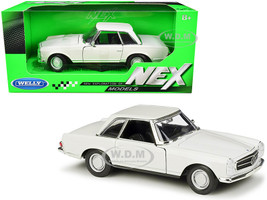 1963 Mercedes Benz 230SL Coupe Cream NEX Models 1/24 Diecast Model Car Welly 24093
