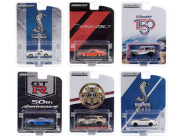 Anniversary Collection Set of 6 pieces Series 11 1/64 Diecast Model Cars Greenlight 28040