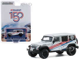 2015 Jeep Wrangler Unlimited White BFGoodrich 150th Anniversary Anniversary Collection Series 11 1/64 Diecast Model Car Greenlight 28040 C