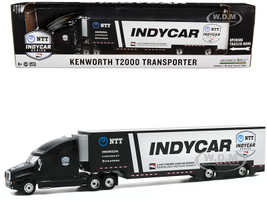 Kenworth T2000 2020 NTT IndyCar Series Team Transporter Black White Hobby Exclusive 1/64 Diecast Model Greenlight 30178