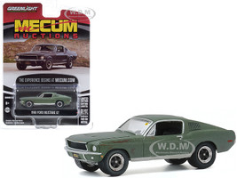 1968 Ford Mustang GT Fastback Green Unrestored Bullitt Kissimmee Florida 2020 Mecum Auctions Collector Cars Series 5 1/64 Diecast Model Car Greenlight 37210 A