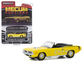 1970 Plymouth HEMI Barracuda Convertible Yellow Black Stripes Kissimmee Florida 2016 Mecum Auctions Collector Cars Series 5 1/64 Diecast Model Car Greenlight 37210 C