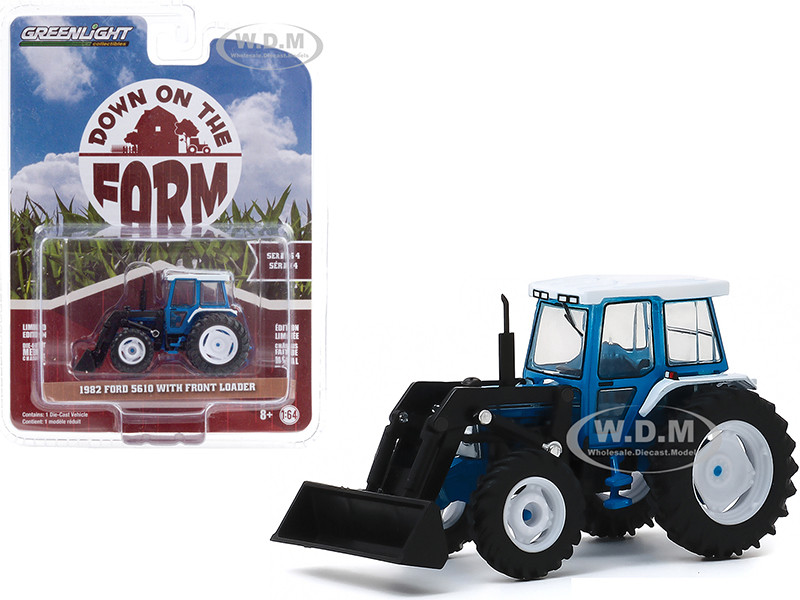 1982 Ford 5610 tractor w// front loader Greenlight DOWN on the FARM Series 4