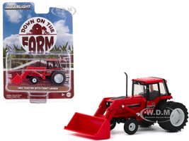 1982 Tractor Front Loader Dual Rear Wheels Red Down on the Farm Series 4 1/64 Diecast Model Greenlight 48040 D