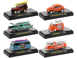Auto Shows 6 piece Set Release 60 IN DISPLAY CASES 1/64 Diecast Model Cars M2 Machines 32500-60