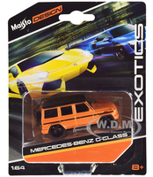 Mercedes Benz G-Class Orange Metallic Black Top Exotics Series 1/64 Diecast Model Car Maisto 15494-20 D