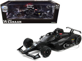 Dallara IndyCar #14 Tony Kanaan Big Machine Vodka A J Foyt Enterprises NTT IndyCar Series 2020 1/18 Diecast Model Car Greenlight 11094