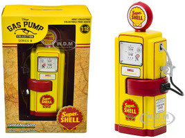1948 Wayne 100-A Gas Pump Super Shell Yellow Red Vintage Gas Pumps Series 8 1/18 Diecast Model Greenlight 14080 A