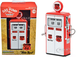 1954 Tokheim 350 Twin Gas Pump Phillips 66 Flite-Fuel Red White Vintage Gas Pumps Series 8 1/18 Diecast Model Greenlight 14080 C