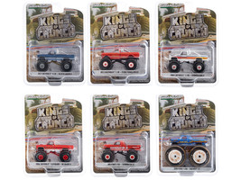 Kings of Crunch Set of 6 Monster Trucks Series 7 1/64 Diecast Model Cars Greenlight 49070