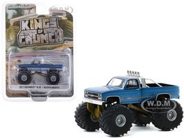 1977 Chevrolet K-10 Monster Truck Maiden America Blue Kings of Crunch Series 7 1/64 Diecast Model Car Greenlight 49070 A