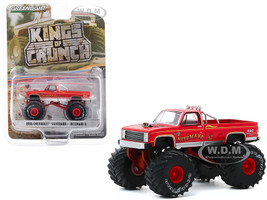 1986 Chevrolet Silverado Monster Truck Nitemare II Red Kings of Crunch Series 7 1/64 Diecast Model Car Greenlight 49070 D