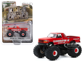 1993 Ford F-250 Monster Truck Terminator III Red Kings of Crunch Series 7 1/64 Diecast Model Car Greenlight 49070 E