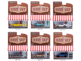 The Hobby Shop Set of 6 pieces Series 9 1/64 Diecast Model Cars Greenlight 97090