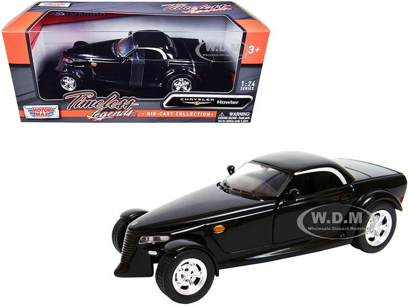 Chrysler Howler Concept Black Timeless Legends 1/24 Diecast Model Car Motormax 73282