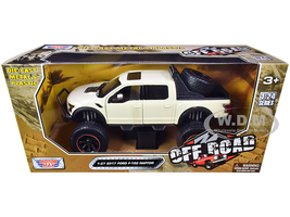 2017 Ford F-150 Raptor Pickup Truck Off Road Cream 1/27 Diecast Model Car Motormax 79142