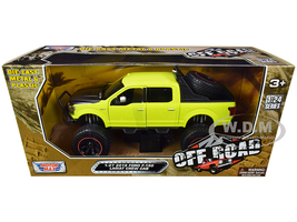 2019 Ford F-150 Lariat Crew Cab Pickup Truck Off Road Bright Green 1/27 Diecast Model Car Motormax 79146