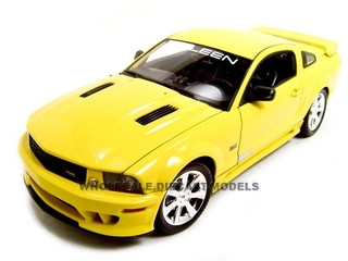 2007 Saleen Mustang S281E Yellow 1/18 Diecast Model Car Welly 12569