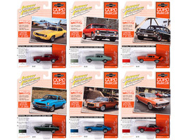 Muscle Cars USA 2020 Set B of 6 Cars Release 2 COPO Muscle Limited Edition 2500 pieces Worldwide 1/64 Diecast Model Cars Johnny Lightning JLMC023 B