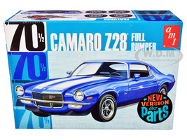 Skill 2 Model Kit 1970 1/2 Chevrolet Camaro Z28 Full Bumper 1/25 Scale Model AMT AMT1155