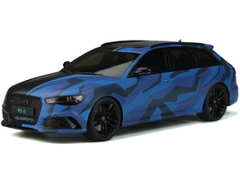 Audi RS 6 Avant Quattro Black Camouflage Blue Limited Edition 1500 pieces Worldwide 1/18 Model Car GT Spirit GT799
