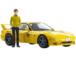 Mazda RX-7 FD3S RHD Right Hand Drive Yellow Keisuke Takahashi Figurine Initial D 1/18 Model Car Kyosho KSR18D02
