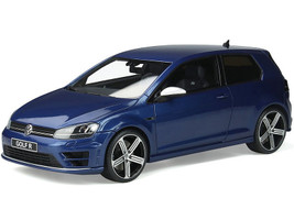 Volkswagen Golf 7R Coupe Lapiz Blue Metallic 1/18 Model Car Otto Mobile OT333