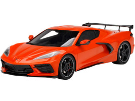 2020 Chevrolet Corvette Stingray C8 High Wing Sebring Orange Tintcoat Metallic 1/18 Model Car Top Speed TS0285
