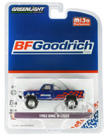 1982 GMC K-2500 Custom 4x4 Pickup Truck BFGoodrich Blue Limited Edition 2750 pieces Worldwide 1/64 Diecast Model Car Greenlight 51333