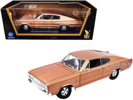 1966 Dodge Charger Bronze Metallic 1/18 Diecast Model Car Road Signature 92638