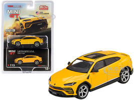Lamborghini Urus Sunroof Giallo Auge Yellow Limited Edition 1800 pieces Worldwide 1/64 Diecast Model Car True Scale Miniatures MGT00113
