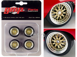 Big Red Pro Touring Wheels Tires Set of 4 pieces from 1969 Chevrolet Camaro Big Red Camaro 1/18 GMP 18946